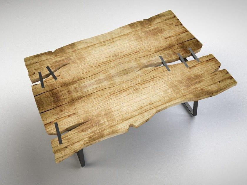 Rectangular cedarwood table STITCH by IronWoods