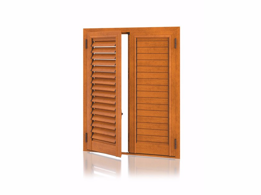 Aluminium shutter with adjustable louvers with planar louvers STORIKA Planar Adjustable by Kikau