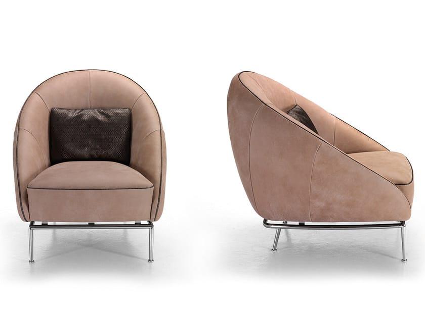 Leather armchair STONE by Borzalino
