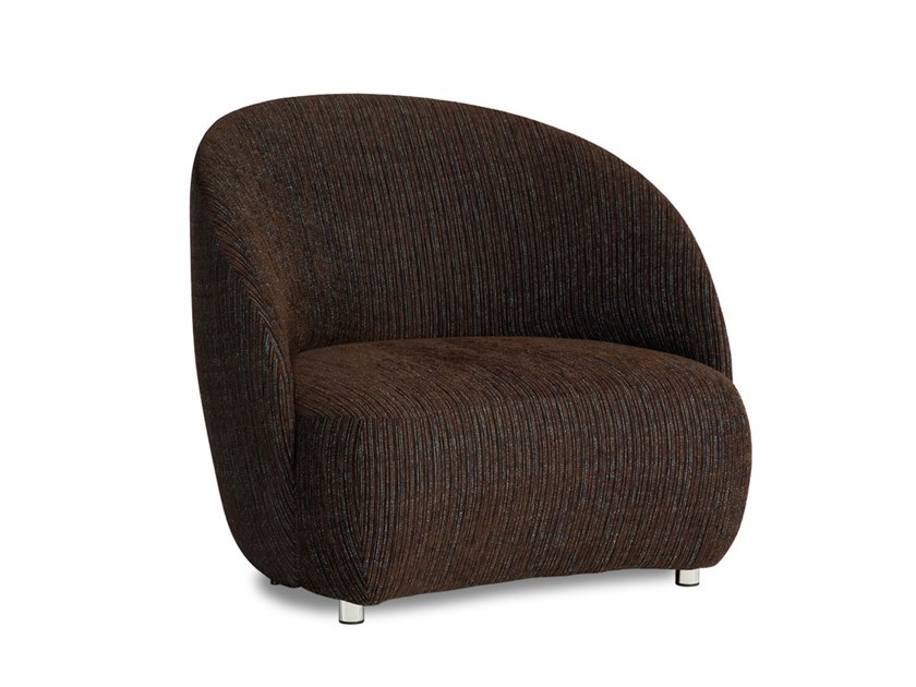 Fabric armchair with armrests STONE | Fabric armchair by Neology