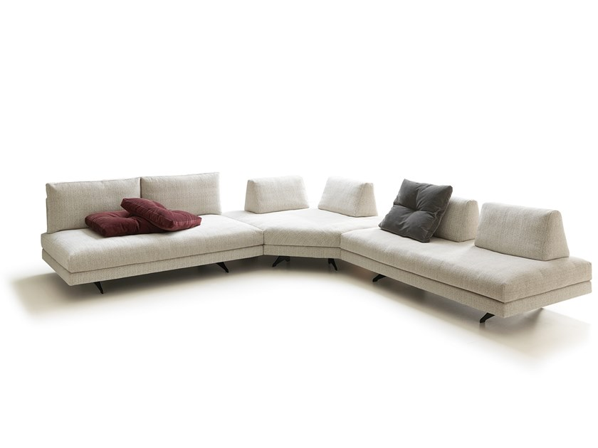 Corner sectional fabric sofa STONE | Fabric sofa by VALENTINI