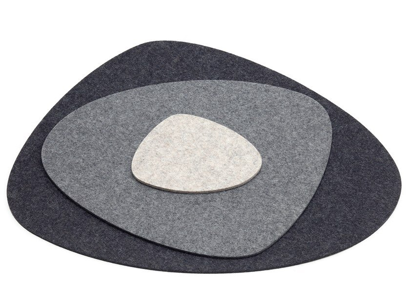 Felt drink coaster / placemat STONE by HEY-SIGN