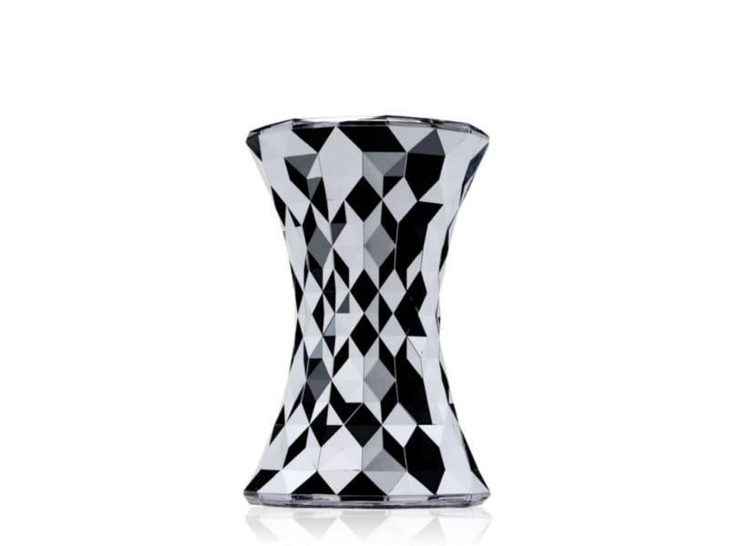 Sgabello basso in policarbonato stone by kartell design marcel wanders