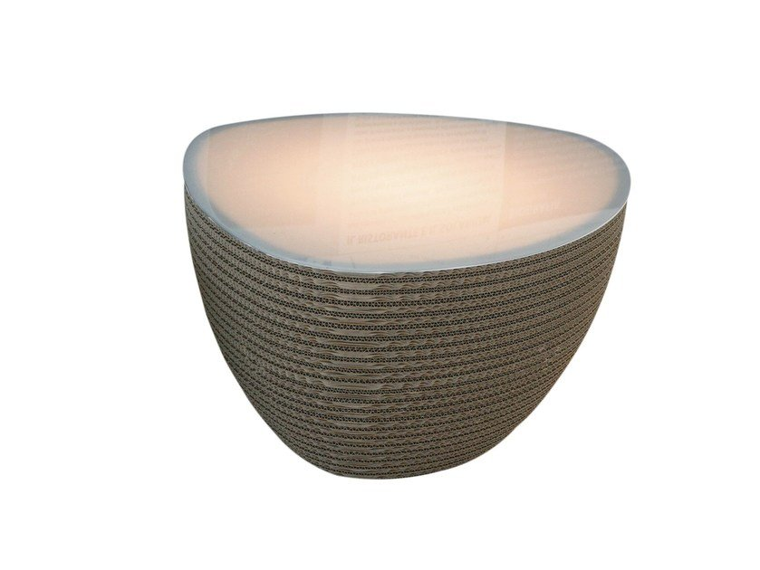 Kraft paper floor lamp / coffee table STONE LUCE by Staygreen
