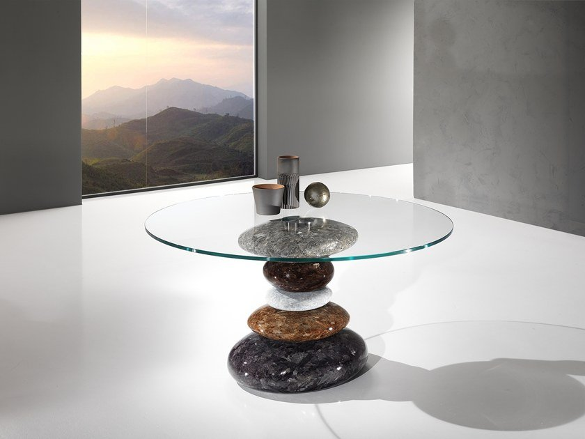 Round Crystal Stone® table STONE | Round table by Crystal Stone