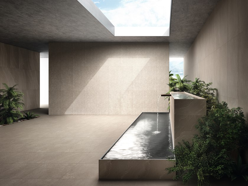 Indoor/outdoor porcelain stoneware wall/floor tiles STONE TALK 20mm by Ergon