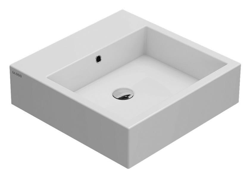 Lavabo quadrato singolo in ceramica STONE   Lavabo in ceramica by Ceramica Globo
