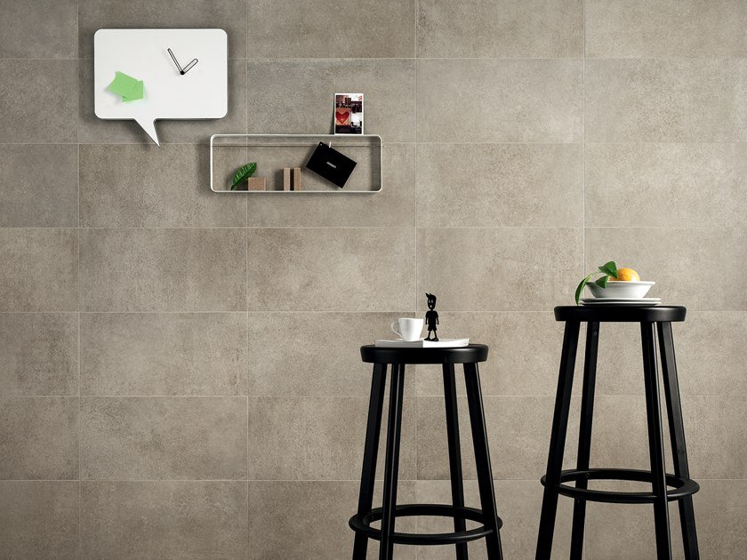 Full-body porcelain stoneware flooring with stone effect STONECLAY LIME by LEA CERAMICHE