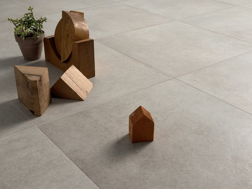 Full-body porcelain stoneware flooring with stone effect STONECLAY SILT by LEA CERAMICHE