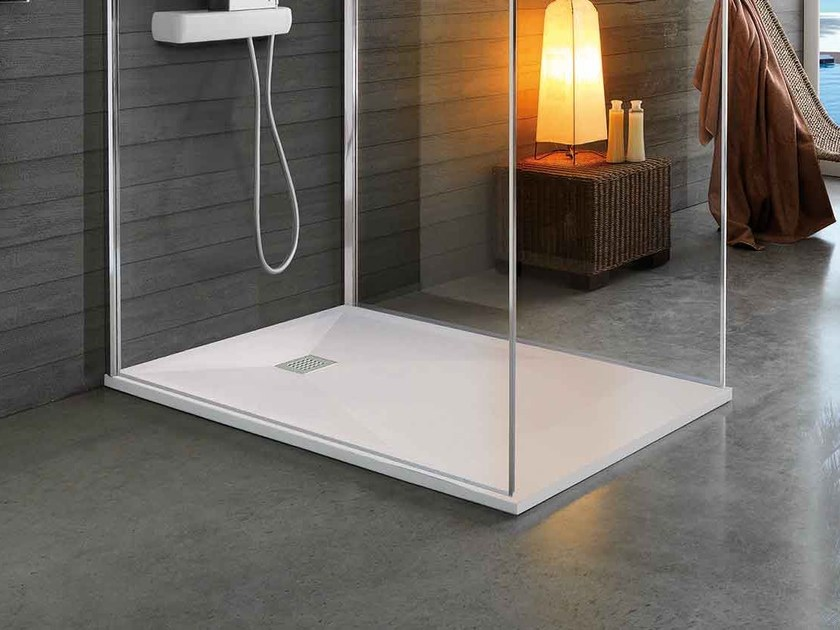 Anti-slip custom shower tray STONEFIT by Samo