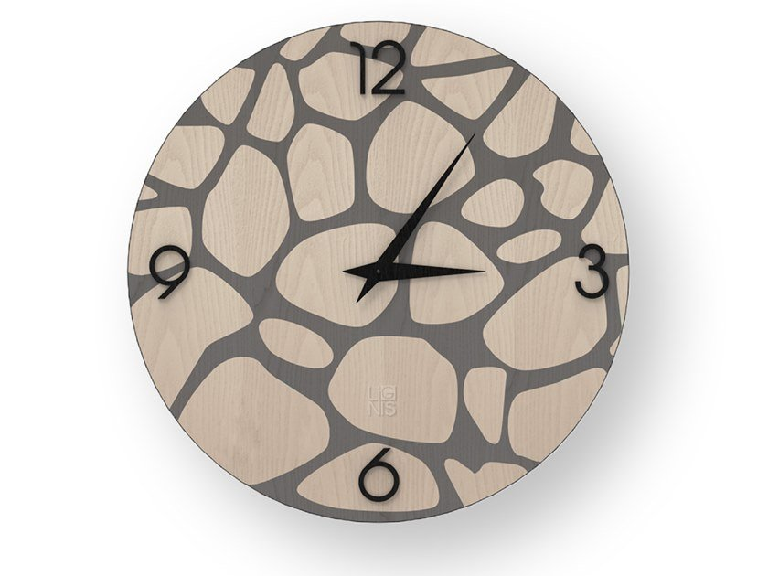 Wall-mounted wooden clock STONES COLD | Clock by LIGNIS®