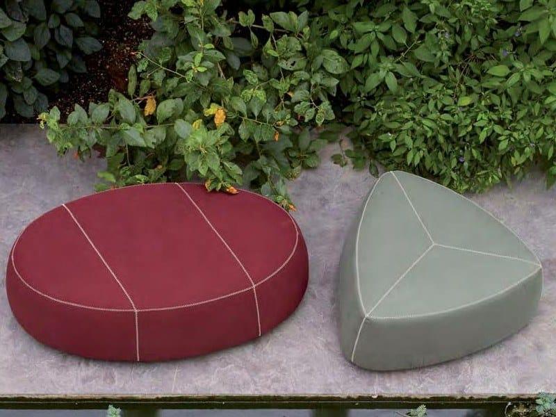 Fabric garden pouf STONES | Garden pouf by H&Co