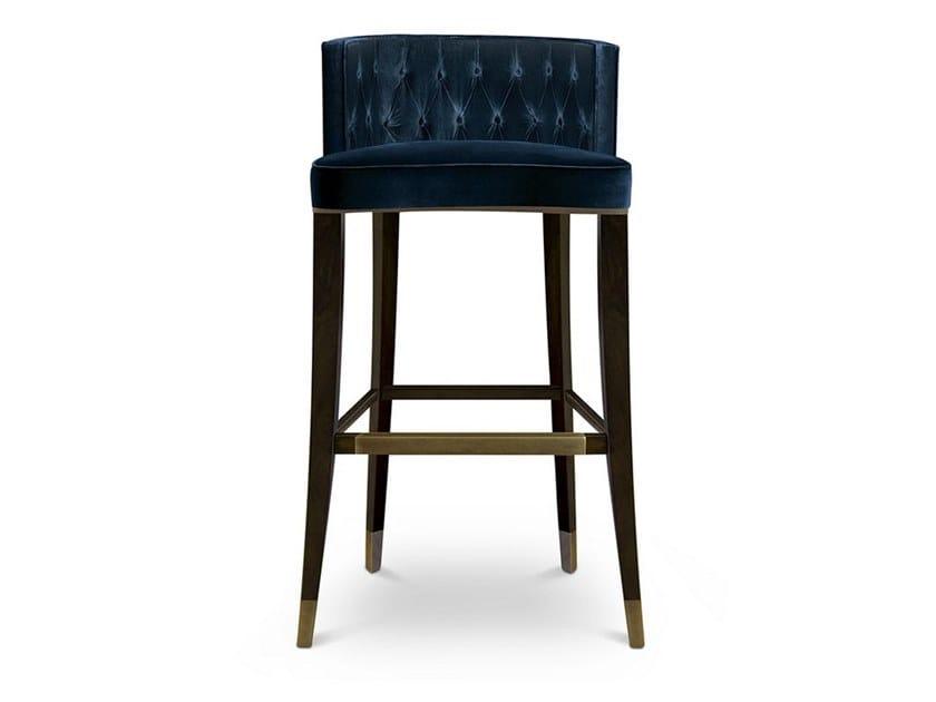 Tufted velvet stool BOURBON | Stool by BRABBU