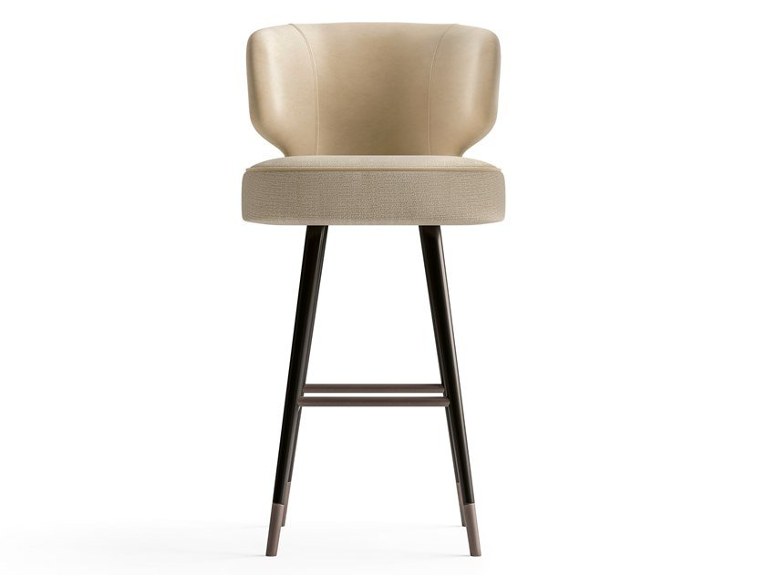 High leather and fabric stool STARLIGHT | Stool by CPRN HOMOOD