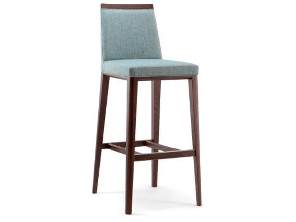 High upholstered fabric stool METRÒ | Stool by Cizeta L'Abbate