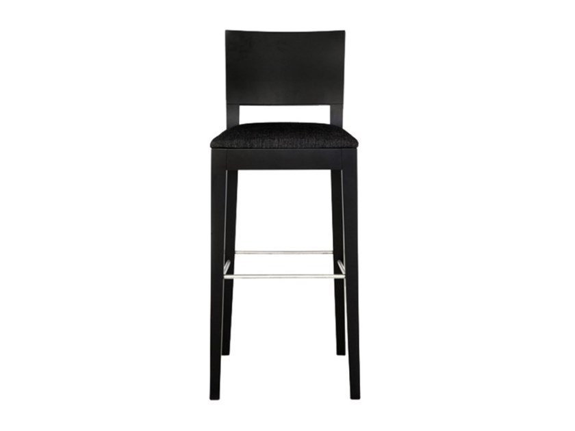 High wooden stool with back GALA | Stool by Conceito Casa