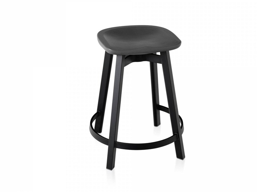 Stool with footrest SU | Stool with footrest by Emeco