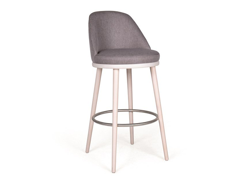 Upholstered fabric barstool AUDREY BAR by Fenabel
