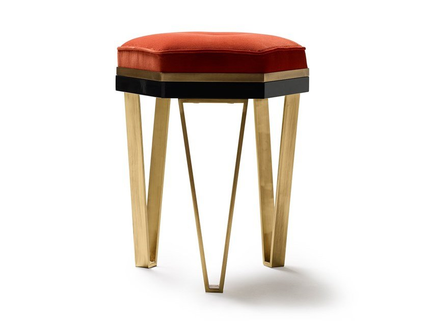 Low upholstered stool Stool by MARIONI