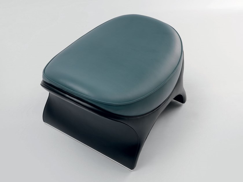 Low upholstered leather stool LA GOCCIA   Stool by Mascheroni