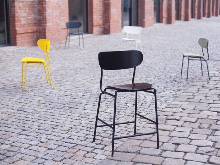 High stool with footrest BOHÉM | Stool by mmcité1