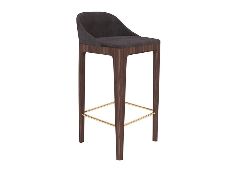 High upholstered barstool BELLAGIO | Stool by Morelato