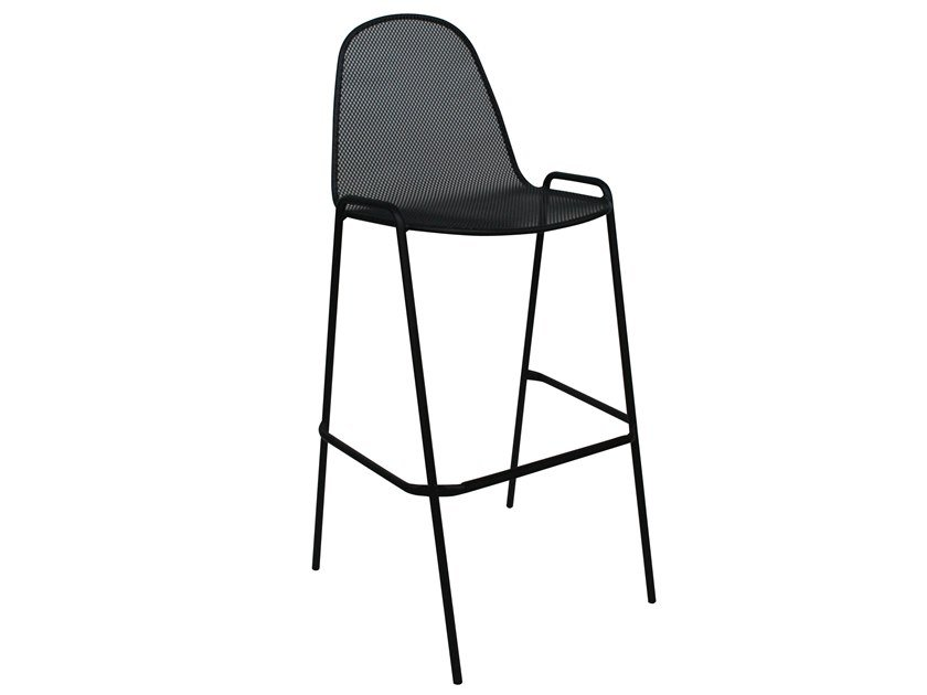 Stackable galvanized steel stool MIRABELLA 75 by RD Italia