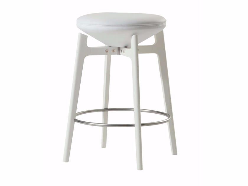 Swivel stool with footrest U-TURN | Stool by ROCHE BOBOIS