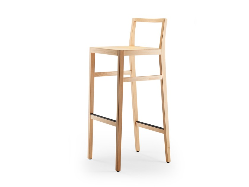 High solid wood stool CLYDE | Stool by rosconi