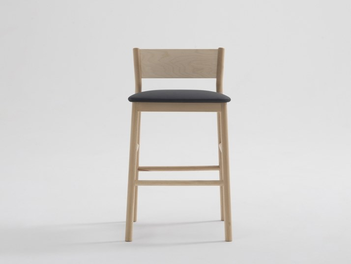 High imitation leather stool with integrated cushion ELLA | Stool by SF Collection