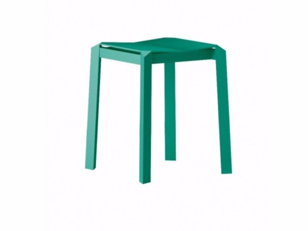 Stackable aluminium stool TRI TUBE | Stool by Specimen Editions