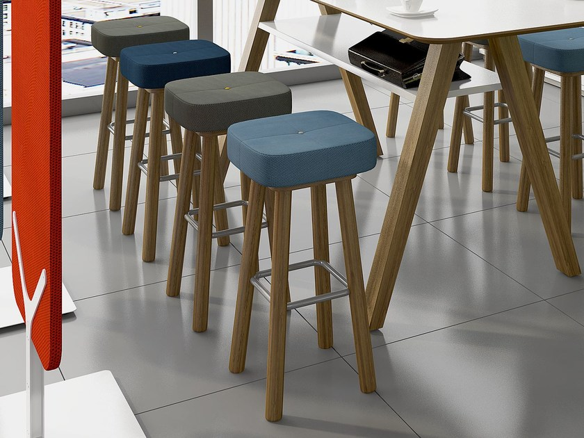 High upholstered stool LEA | Stool by Tuna Ofis