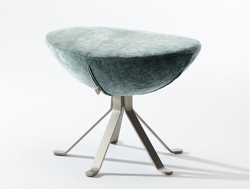 Swivel fabric stool with 5-spoke base ARMONIA | Stool by VERFO LAB