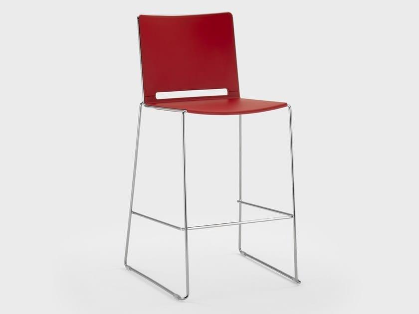 High sled base plastic stool DAISY | Stool by Viganò