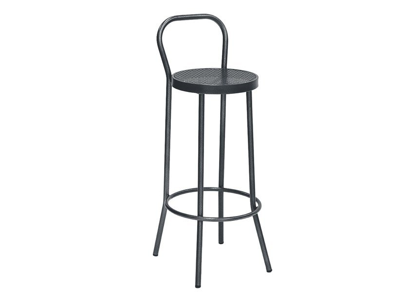 High stool with back PUERTO | Stool with back by iSimar