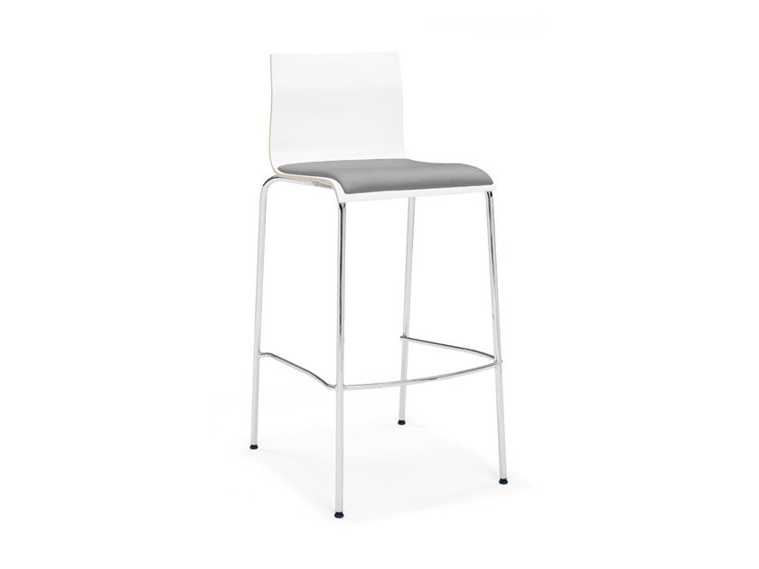 Melamine barstool with footrest NOA BARSTOOL | Stool with footrest by Casala
