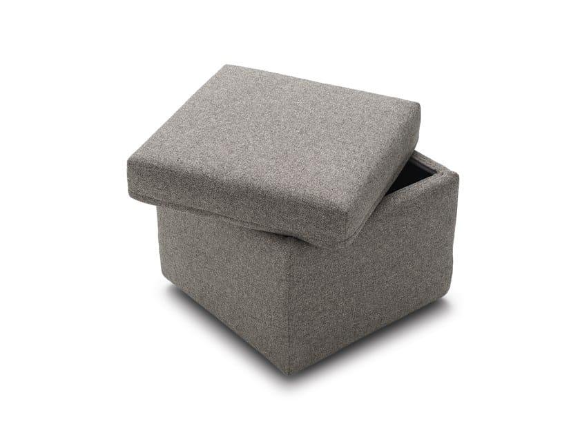 Pouf contenitore imbottito quadrato in tessuto SECRET by Felis