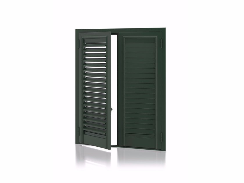 Aluminium shutter with adjustable louvers with overlap louvers STORIKA Overlap Adjustable by Kikau