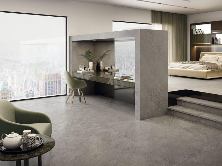 Pavimento/rivestimento in gres porcellanato per interni ed esterni STORM FOG by La Fabbrica