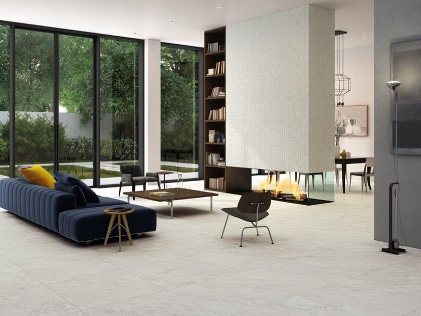 Pavimento/rivestimento in gres porcellanato per interni ed esterni STORM SALT by La Fabbrica