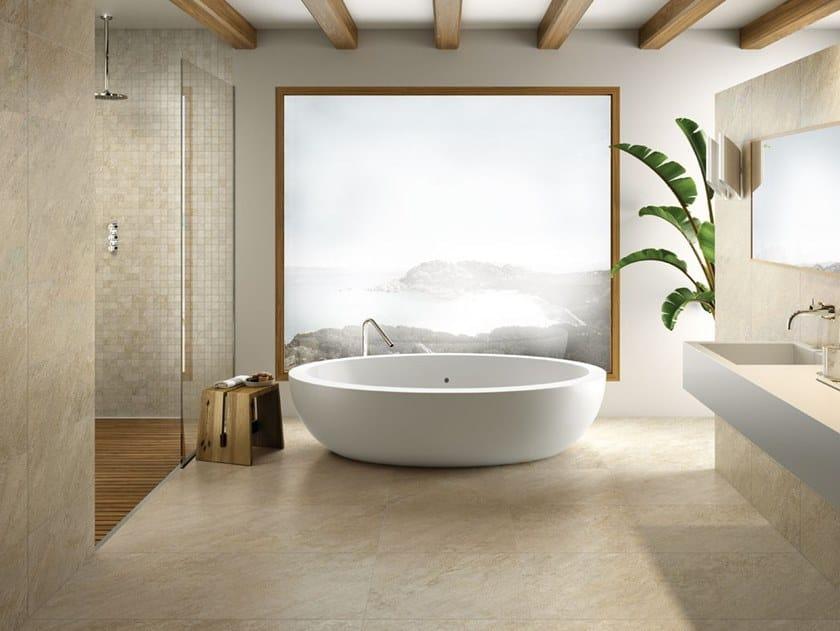 Pavimento/rivestimento in gres porcellanato per interni ed esterni STORM SAND by La Fabbrica