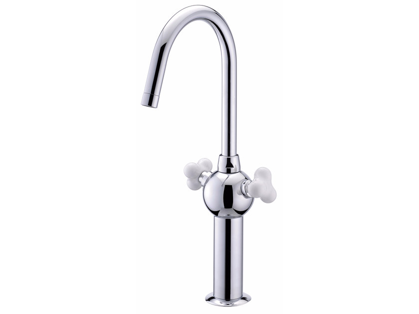 Countertop 1 hole brass kitchen tap with swivel spout STORY | Kitchen tap by JUSTIME