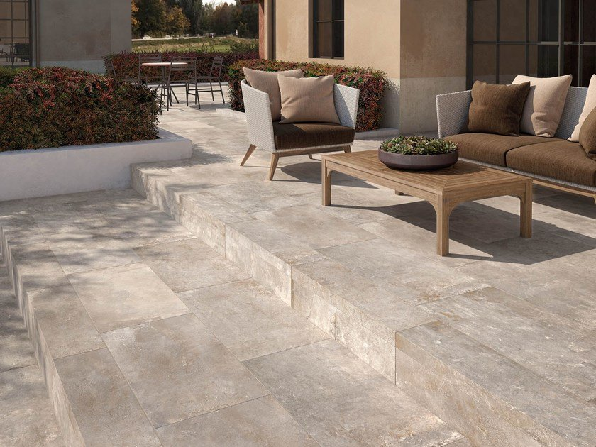 Porcelain stoneware outdoor floor tiles STORY T20 by Supergres