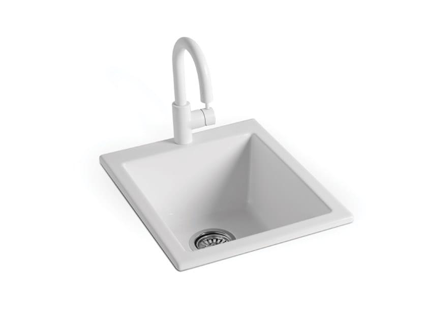 Lavello a una vasca in ceramica STOVE HOLE | Lavello by BLEU PROVENCE