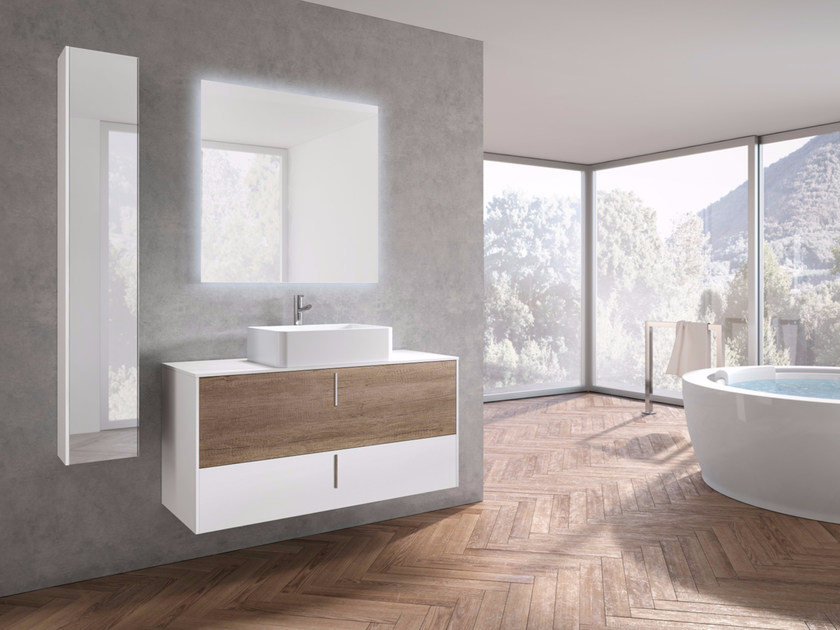 Wall-mounted vanity unit with drawers STR8 - 22 by Gruppo Geromin
