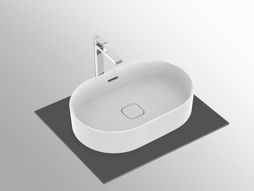 Vasque à poser ovale avec trop-plein STRADA II - T3604 by Ideal Standard