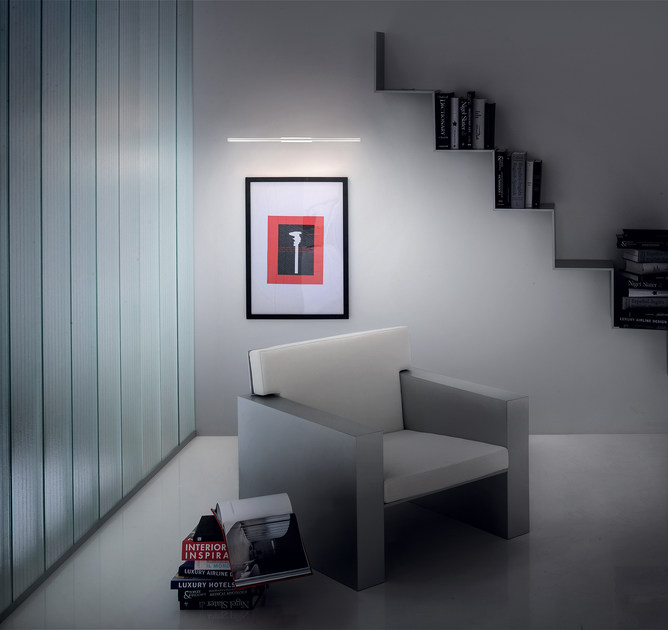 Led abs wall light straight w straight collection by linea light group
