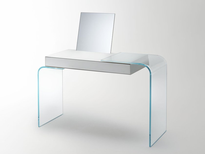Crystal writing desk / dressing table STRATA by Glas Italia