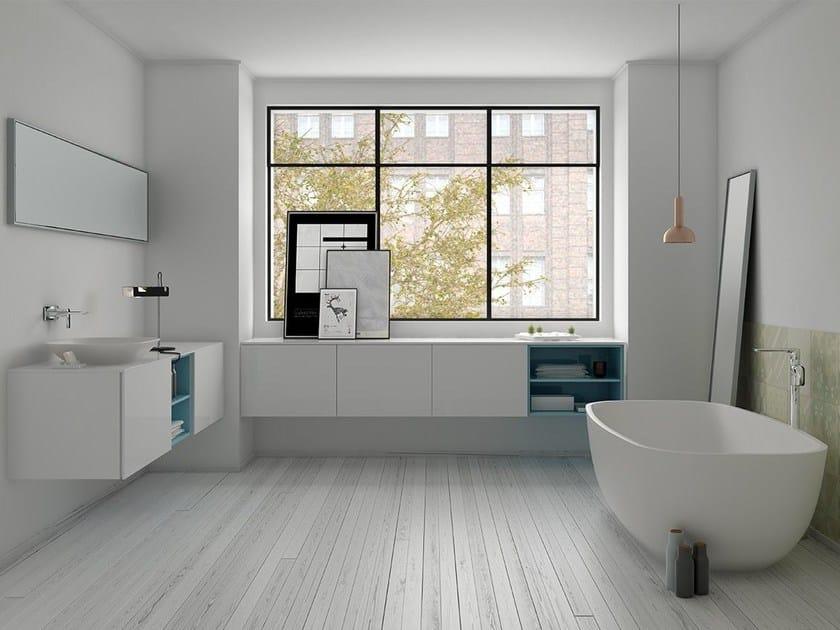 Bathroom furniture set STRATO 13 by INBANI