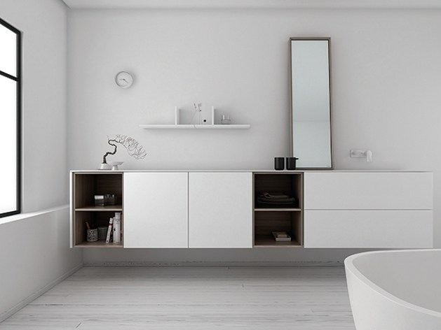 Bathroom furniture set STRATO 14 by INBANI